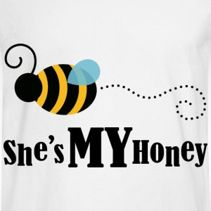 She's My Honey (Couples Matching) Mens T-shirt | C - Men's Long Sleeve T-Shirt