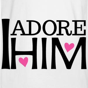Couples I Adore Him Girlfriend Womens T-Shirt | Ma - Men's Long Sleeve T-Shirt