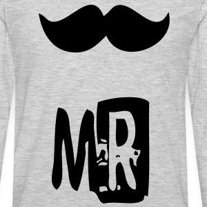 mr mustache T-Shirts - Men's Premium Long Sleeve T-Shirt