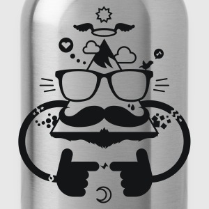 Hipster be cool 1.1c T-Shirts - Water Bottle