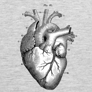 Anatomically correct heart - Men's Premium Tank