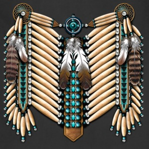 Turquoise & Bone Native American Breastplate - Adjustable Apron