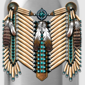 Turquoise & Bone Native American Breastplate - Water Bottle