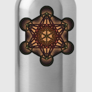 Metatron's Cube - Sacred Geometry Symbol - Water Bottle