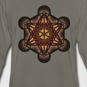 Metatron's Cube - Sacred Geometry Symbol - Men's Premium Long Sleeve T-Shirt