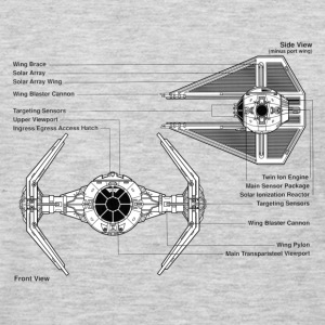 TIE fighter diagram - Men's Premium Long Sleeve T-Shirt