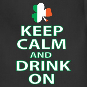 keep calm and drink on irish T-Shirts - Adjustable Apron