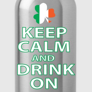 keep calm and drink on irish T-Shirts - Water Bottle
