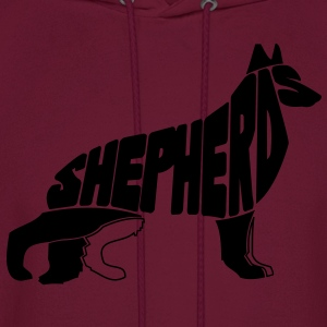 German Shepherd Art T-Shirts - Men's Hoodie