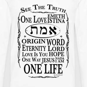 Truth and Life T-Shirts - Men's Premium Long Sleeve T-Shirt