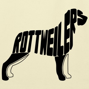 Rottweiler Dog Art T-Shirts - Eco-Friendly Cotton Tote