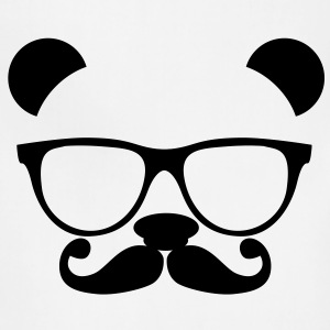 Panda with glasses and mustache T-Shirts - Adjustable Apron