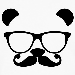 Panda with glasses and mustache T-Shirts - Men's Premium Long Sleeve T-Shirt