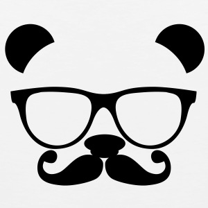 Panda with glasses and mustache T-Shirts - Men's Premium Tank