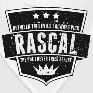 Vintage RASCAL quotes - Between two evils T-Shirts - Bandana