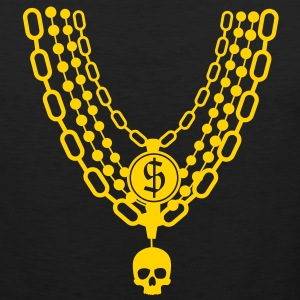 gold chains necklace T-Shirts - Men's Premium Tank
