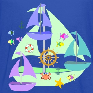 sailboats toddler tshirt - Women's Flowy Tank Top by Bella