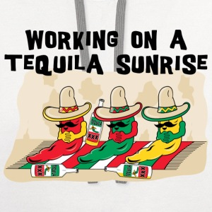Mexican Tequila Sunrise T-Shirt - Contrast Hoodie