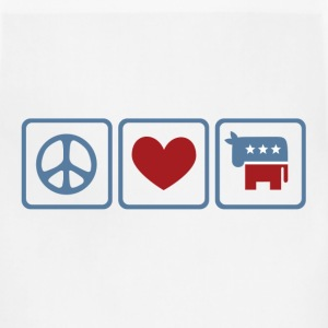 Peace, Love, Democrat - Adjustable Apron