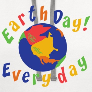 Earth Day Every Day T-Shirt - Contrast Hoodie