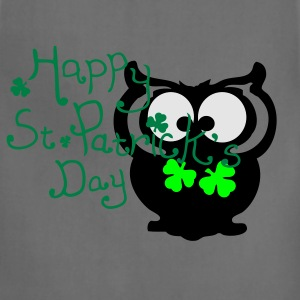 Happy St. Patrick's day owl bird Women's Plus Size - Adjustable Apron