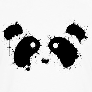 Black Panda Face - Men's Premium Long Sleeve T-Shirt