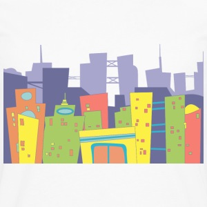 comics city, town - Men's Premium Long Sleeve T-Shirt