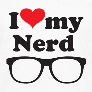 I love my nerd - Men's Premium Long Sleeve T-Shirt