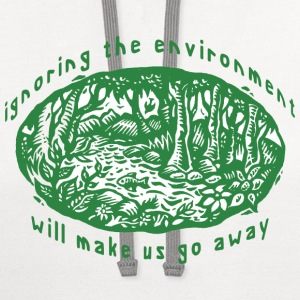 Earth Day Environment T-Shirt - Contrast Hoodie