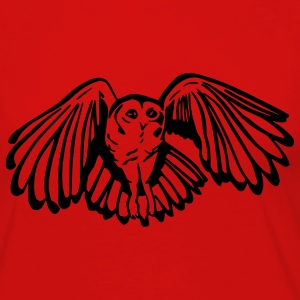 Tawny Owl Mens Standard T-shirt Red - Women's Premium Long Sleeve T-Shirt