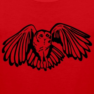 Tawny Owl Mens Standard T-shirt Red - Men's Premium Tank