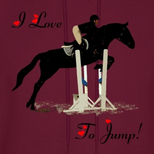 I Love To Jump! Equestrian Horse T-Shirt - Men's Hoodie