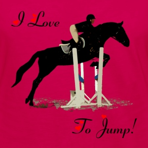 I Love To Jump! Equestrian Horse T-Shirt - Women's Premium Long Sleeve T-Shirt