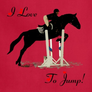 I Love To Jump! Equestrian Horse T-Shirt - Adjustable Apron