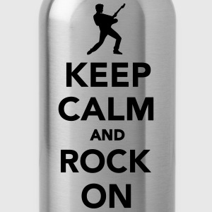 Keep calm and Rock on Kids' Shirts - Water Bottle