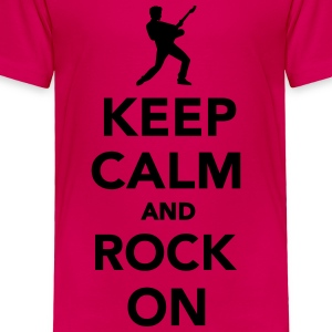 Keep calm and Rock on Kids' Shirts - Toddler Premium T-Shirt