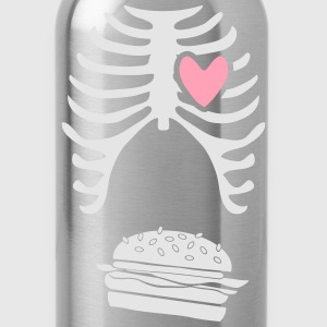 Mens dad to be announcement t-shirt Burger xray  - Water Bottle