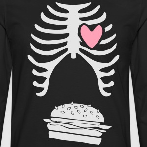 Mens dad to be announcement t-shirt Burger xray  - Men's Premium Long Sleeve T-Shirt