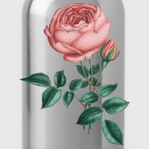 pink rose - Water Bottle