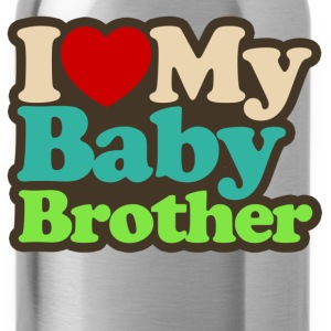 i love my baby brother - Water Bottle