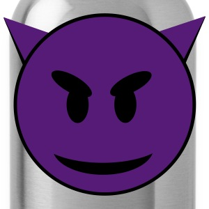Purple Devil Smiley Face T-Shirts - Water Bottle