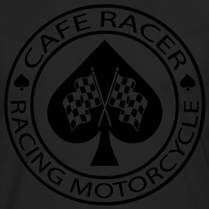 Cafe racer racing motorcycle ace of Spades - Men's Premium Long Sleeve T-Shirt