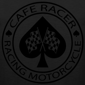 Cafe racer racing motorcycle ace of Spades - Men's Premium Tank