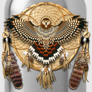 Red-Tailed Hawk Native American Mandala - Water Bottle