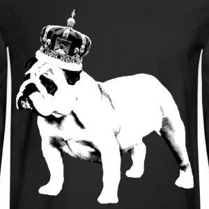 English Bulldog and Crown T-Shirts - Men's Long Sleeve T-Shirt