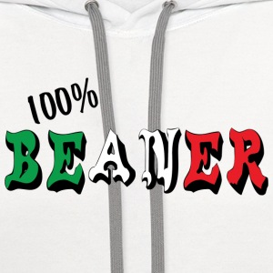 Mexican 100% Beaner T-Shirt - Contrast Hoodie