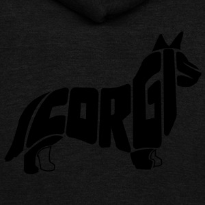 Corgi Dog Art T-Shirts - Unisex Fleece Zip Hoodie by American Apparel