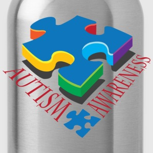 Autism Awareness Puzzle Piece T-Shirts - Water Bottle