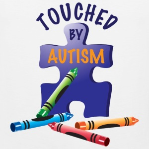 Touched by Autism T-Shirts - Men's Premium Tank