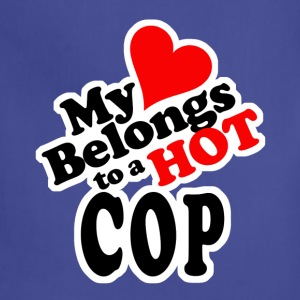 My Heart Belongs to a HOT Cop - Adjustable Apron